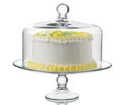 Patera do ciasta szklana Selene z przykrywką
