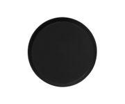 Taca antypoślizgowa z włókna szklanego, okrągła, 36cm, czarna