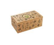 Pudełko kurczak duży z nadrukiem Tattoo 220x120x75mm, karton biało-brązowy, op.100 sztuk