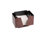 Pojemnik na serwetki i słomki, imitacja drewna, 14,3x19,3x13,7cm