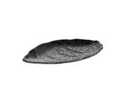 Półmisek z melaminy APS GLAMOUR, czarny, 25x15,5cm
