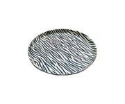 Taca z polipropylenu 36cm, okrągła, wzór Zebra