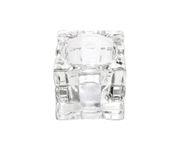 Świecznik Tealight Holder Cube przeźroczysty
