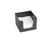 Pojemnik na serwetki, czarny, 14x14x10cm