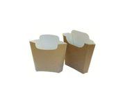 Pudełko na frytki 100g, karton biało- brązowy, op.500 sztuk