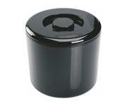 Pojemnik na lód, plastikowy, czarny, okrągły, 10L