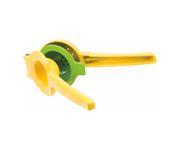 Wyciskacz ręczny do cytrusów, zamykany, zółty,3-częściowy, żeliwo cynkowe