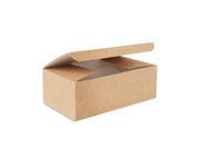 Pudełko kurczak duży 220x120x75mm karton biało-brązowy, op.100 sztuk