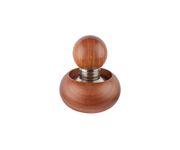 Tamper, stal nierdzewna, płaski, śr. 58mm, drewniana rączka (zestaw z drewnianym stojakiem)
