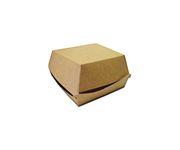 Pudełko Burger Box, średnie 115x115x70 , karton biało-brązowy, op.200 sztuk