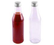 Szklana butelka 255ml, średnica 5,5cm, wysokość 19cm (bez zakrętki)