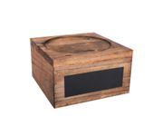 Stojak drewniany na słój z kranikiem 5,5L, z tabliczką pisaną