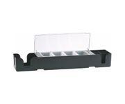 Pojemnik na owoce, Bar Center, 4 przegródki, plastik, czarny, 60x14x9cm
