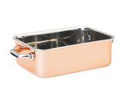 Mini naczynie do serwowania, pokryte miedzią 15x11,5cm