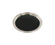 Taca antypoślizgowa stalowa, okrągła, 35,5cm, pokryta okleiną winylową