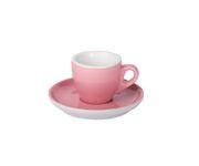 Filiżanka do espresso 55ml APS Colored Sets, różowa (ze spodkiem)