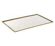 Talerz z melaminy APS STONE ART GN 1/1, 53x32,5cm (ze stopkami antypoślizgowymi)