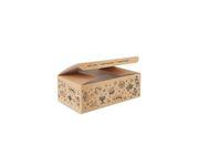 Pudełko kurczak mały z nadrukiem Tattoo 160x100x60mm, karton biało-brązowy, op.100 sztuk