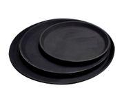 Taca antypoślizgowa z włókna szklanego, okrągła, 28cm, czarna