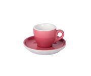 Filiżanka do espresso 55ml APS Colored Sets, ciemnoróżowa/koralowa (ze spodkiem)