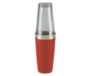 Shaker bostoński duży, okleina winylowa, czerwony, 800ml (bez szklanicy)