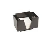 Pojemnik na serwetki i słomki, czarny, 14,3x19,3x13,7cm
