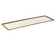 Talerz z melaminy APS STONE ART GN 2/4, 53x16,2cm (ze stopkami antypoślizgowymi)