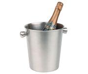 Wiaderko do szampana, stal nierdzewna, matowe wykończenie