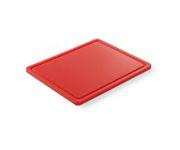 Deska do krojenia, czerwona, 32,5x26,5x1,8cm
