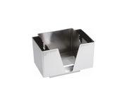 Pojemnik na serwetki i słomki, chromowany, 14,3x19,3x13,7cm