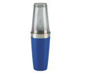 Shaker bostoński duży, okleina winylowa, niebieski, 800ml (bez szklanicy)