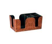 Bar Caddy pojemnik na serwetki, słomki, imitacja drewna