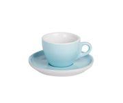 Filiżanka do cappucino 160ml APS Colored Sets, błękitna (ze spodkiem)