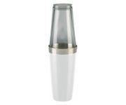 Shaker bostoński duży, okleina winylowa, biały, 800ml (bez szklanicy)