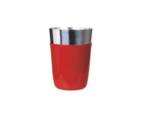 Shaker bostoński mały, okleina winylowa, czerwony, 400ml