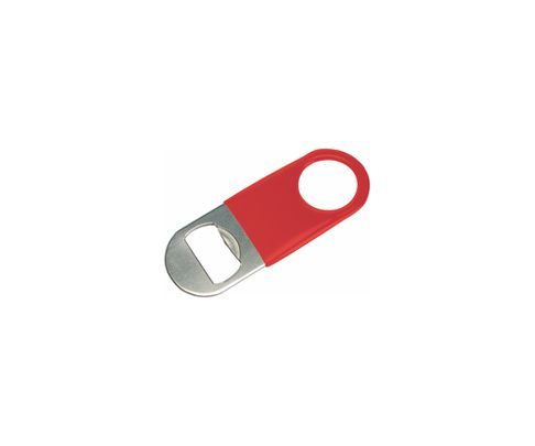 Otwieracz do butelek typu speed mini, okleina winylowa, czerwony