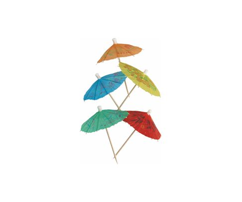 Parasolki cocktailowe, mix kolorów, 8cm, 144szt