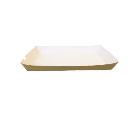 Tacka 140x240x36mm, karton biało- brązowy, op.100 sztuk