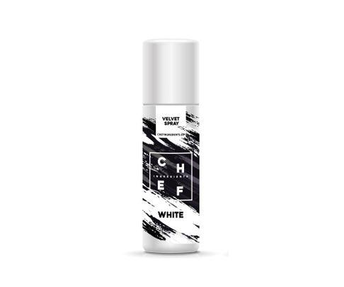 Barwnik zamszowy w sprayu Chef Ingredients (Velvet Spray) - biały 250ml