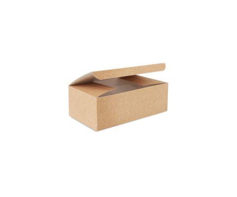 Pudełko kurczak mały 160x100x60mm, karton biało-brązowy, op.100 sztuk