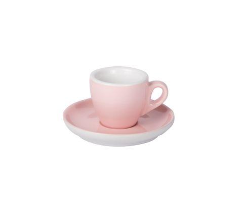 Filiżanka do espresso 55ml APS Colored Sets, pudrowy róż (ze spodkiem)