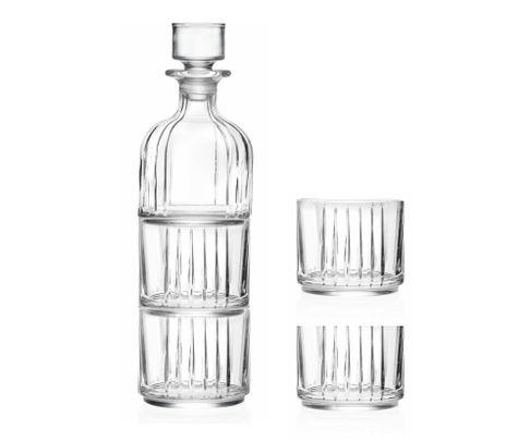 Zestaw Butelka z korkiem Combo RCR 335ml plus 2 szklanki niskie Combo 370ml