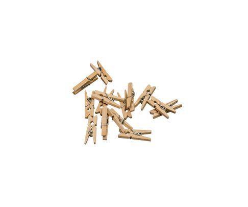 Spinacze drewniane mini, 25mm, 100szt