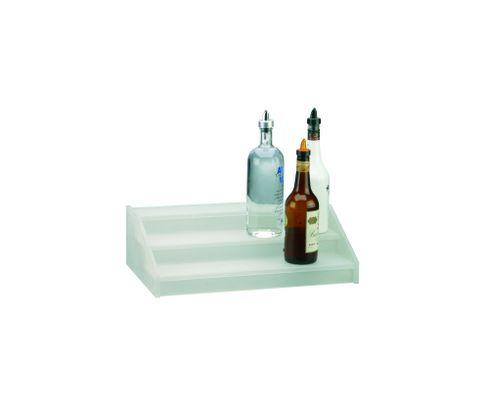 Regał na butelki (kaskada), 3 stopnie, akrylowy, 50x30x15cm