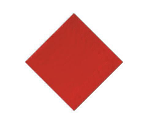 Serwetki cocktailowe, 33x33cm, składane 1/4, czerwone, 250szt