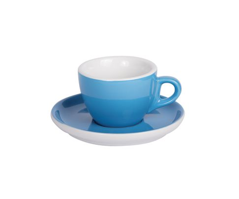 Filiżanka do cappucino 160ml APS Colored Sets, ciemnoniebieska (ze spodkiem)
