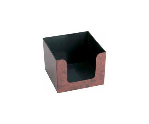 Pojemnik na serwetki, imitacja drewna, 14x14x10cm
