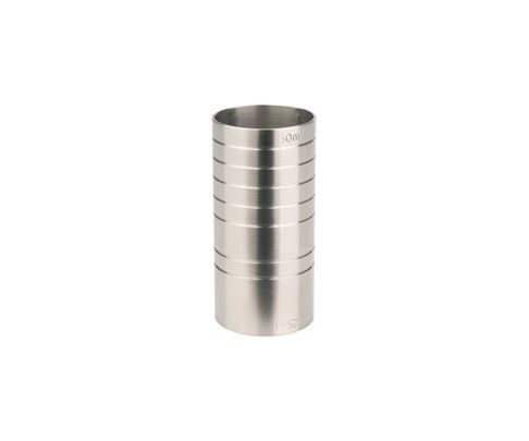 Miarka barowa (Jigger) 25/50ml, cylindryczna, matowe wykończenie