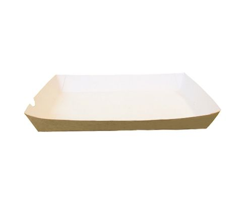 Tacka 200x240x36mm, karton biało- brązowy, op.100 sztuk