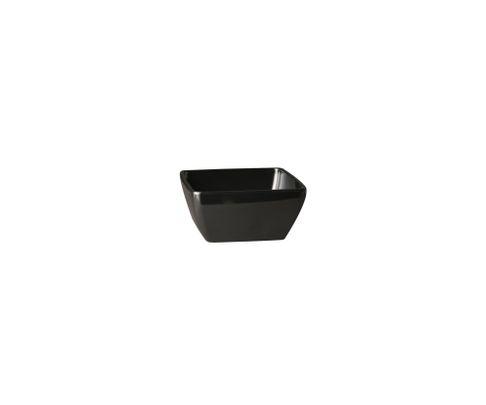 Miska z melaminy APS PURE 140ml, czarna, 9x9cm